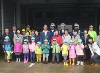 園児と祖父母の交通安全教室