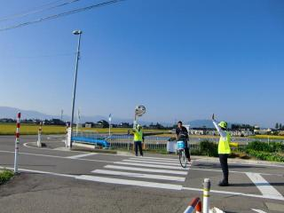 秋の交通安全運動・歩行者、自転車に対する交通安全啓発活動